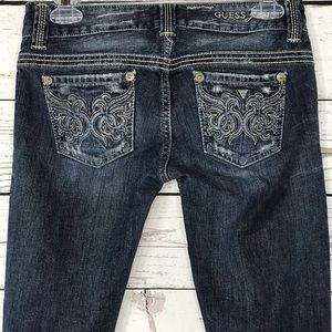 Guess Jeans Daredevil Bootcut Distressed Low-Rise